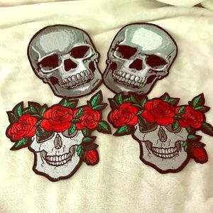 NWOT Skull Patches 2 Sets all for 1 Price.